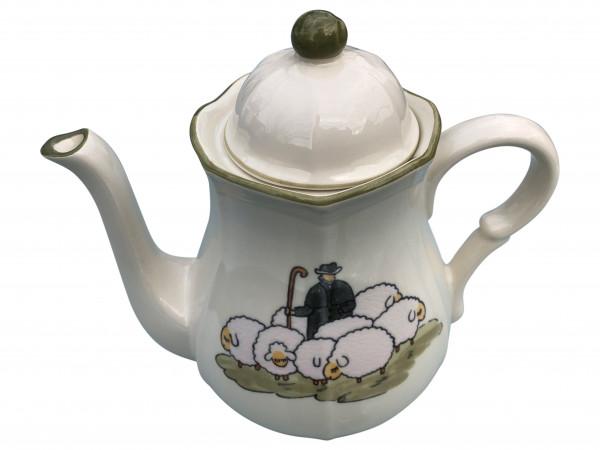 Zeller Keramik Schäfchen Kaffeekanne 1,50 l