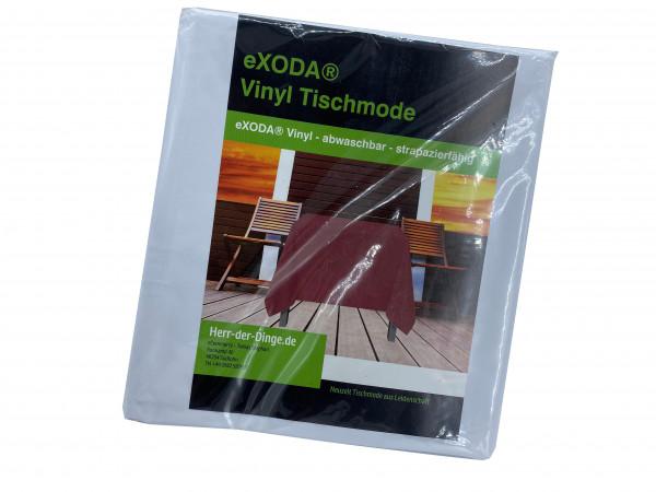 Tischdecke abwaschbar Deko Vinyl weiss zuschneidbar 200x230cm wasserdicht