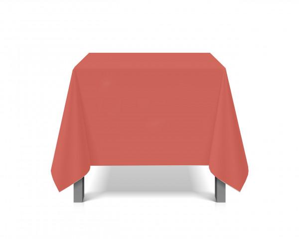 Tischdecke abwaschbar eckig Deko Vinyl rot Schutzbezug 180x220cm wasserdicht