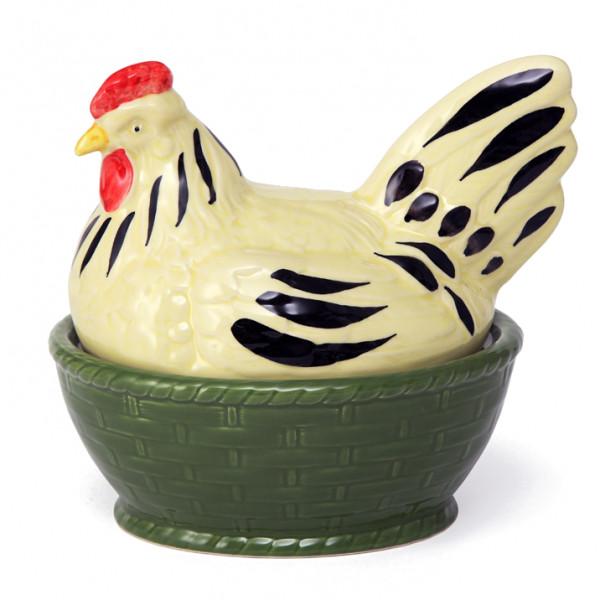 Zeller Keramik Hahn und Henne Eierdose 17 x 14 cm
