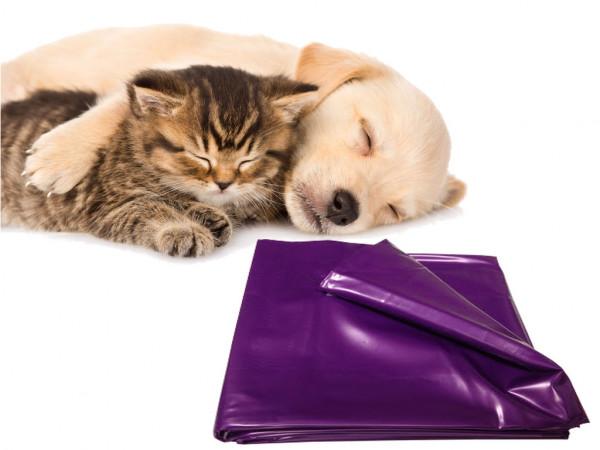 Haustier Unterlage für Hunde und Katzen 200x230 abwaschbar lila flexibel
