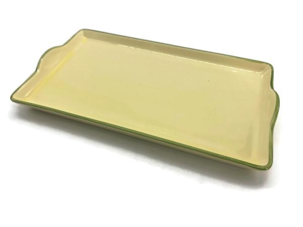 Zeller Keramik Biene Tablett im Dekor 20 x 12 cm