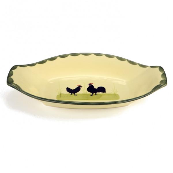 Zeller Keramik Hahn und Henne Brotkorb 31 cm