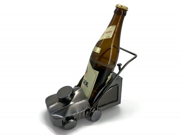 Bierflaschenhalter Metall Rasenmäher Rambo Figuren Bierflasche Deko 0,5l