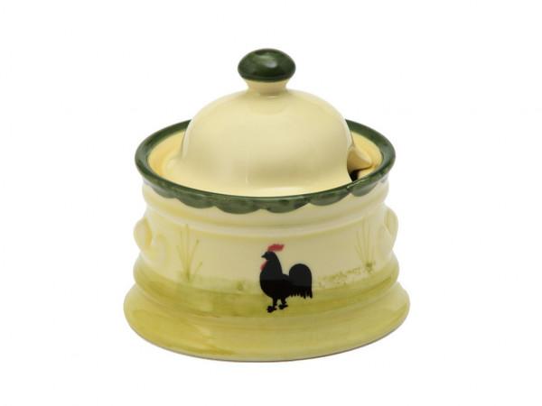 Zeller Keramik Hahn und Henne Zuckerdose 0,20 l