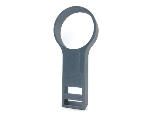 Wandhalterung kompatibel zu Echo Dot 3  ohne Schrauben Silber