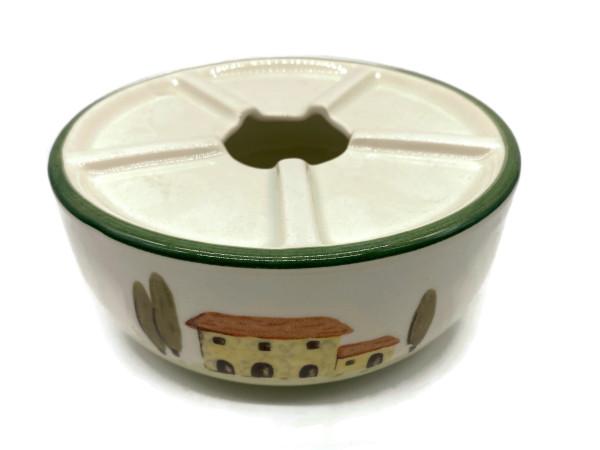 Zeller Keramik Bella Toscana Teewärmer Stövchen im Dekor 16 cm
