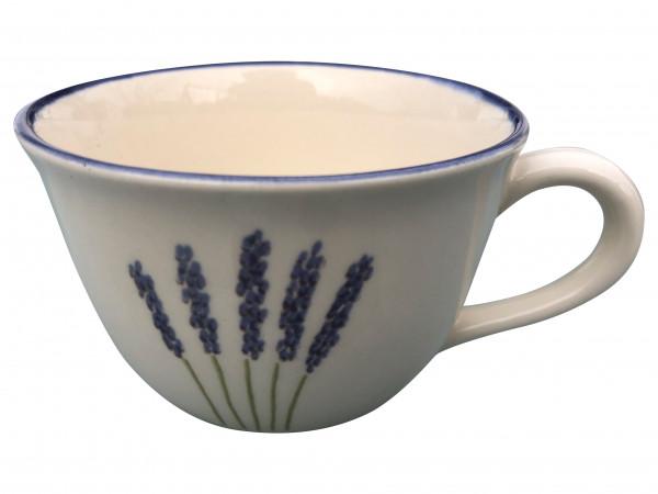 Zeller Keramik Fleur de Provence Cappuccino Obertasse 0,22 l