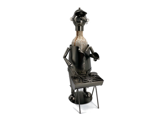 Weinflaschenhalter Metall Figuren Grillmeister Thomas Design Deko von eXODA