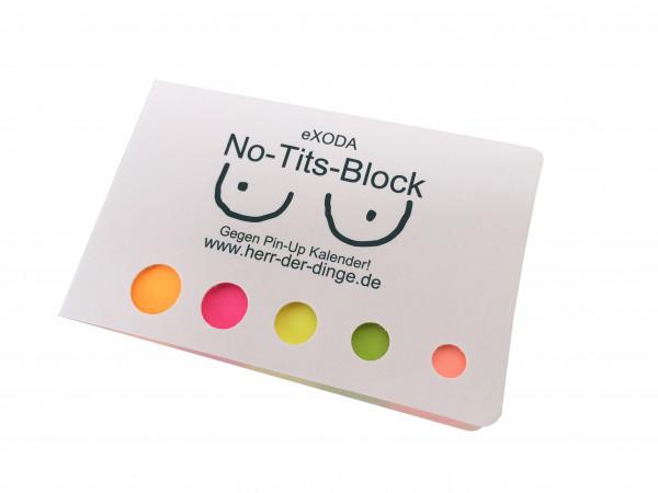 Scherzartikel No-Tits-Block - Gegenteil von Pin-Up-Kalender Haftnotizen lustig Haftmarker selbstklebend von eXODA