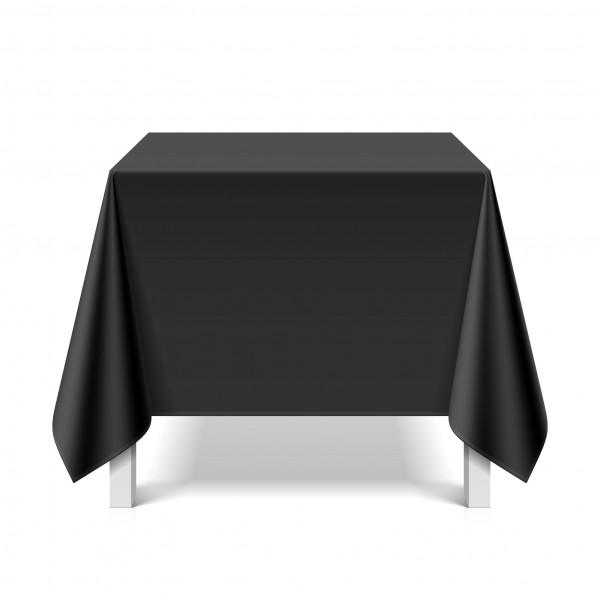 Tischdecke abwaschbar eckig Deko Vinyl schwarz zuschneidbar Schutzbezug 180x220cm wasserdicht von eXODA