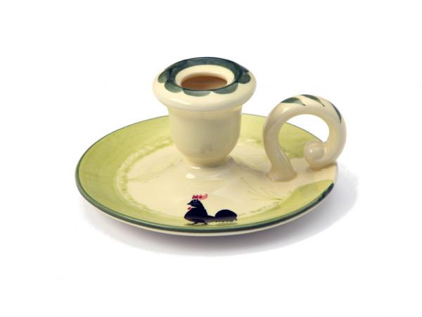 Zeller Keramik Hahn und Henne Leuchter 13 cm