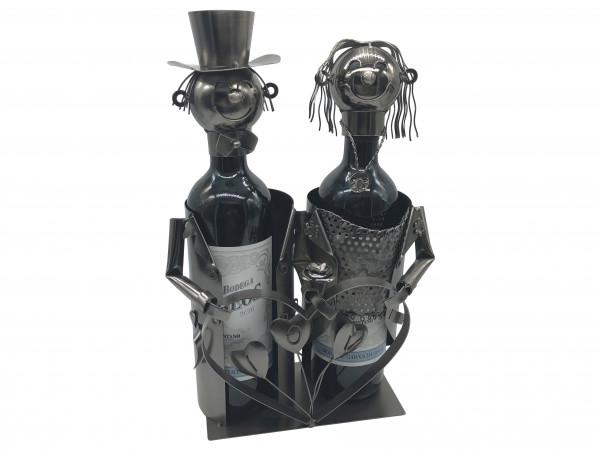 Hochzeit Flaschenhalter Metall Weinflaschenhalter Figuren  Liebespaar Ewigkeit