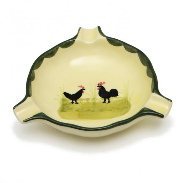 Zeller Keramik Hahn und Henne Ascher 12 cm