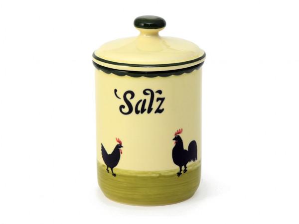 Zeller Keramik Hahn und Henne Vorratsdose Salz 1,00 l