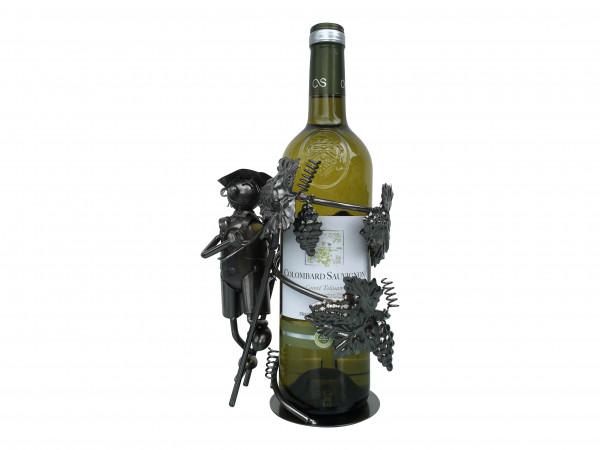 Weinständer Winzer mit Leiter Gilde Flaschenhalter für Weinflaschen Dekoration Metall Weinflasche kunstvolle De