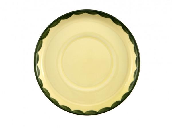 Zeller Keramik Hahn und Henne Untertasse zu Kinderbecher 15 cm