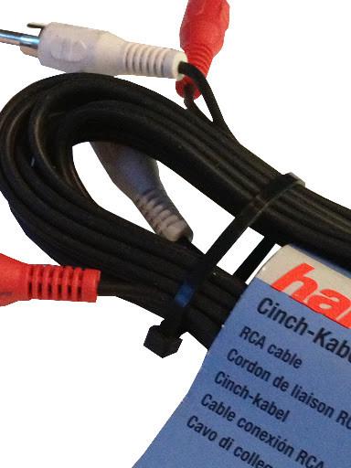 Hama Audio-Kabel 2 Cinchstecker - 2 Cinchstecker, 5 m