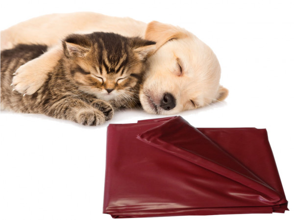 Haustier Unterlage für Hunde und Katzen 200x230 abwaschbar dunkelrot flexibel