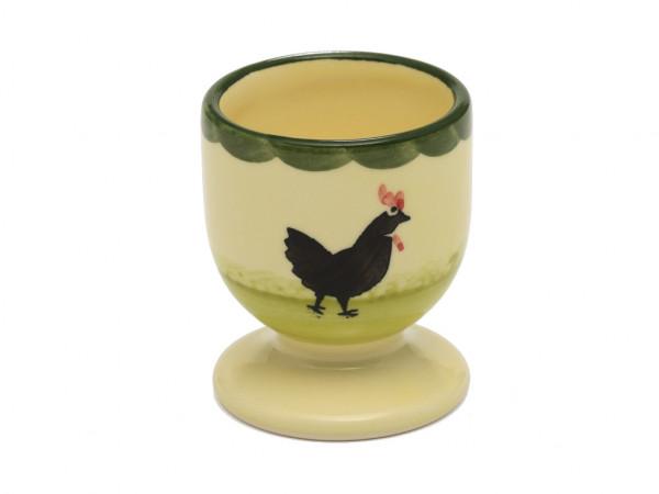 Zeller Keramik Hahn und Henne Eierbecher 6 cm