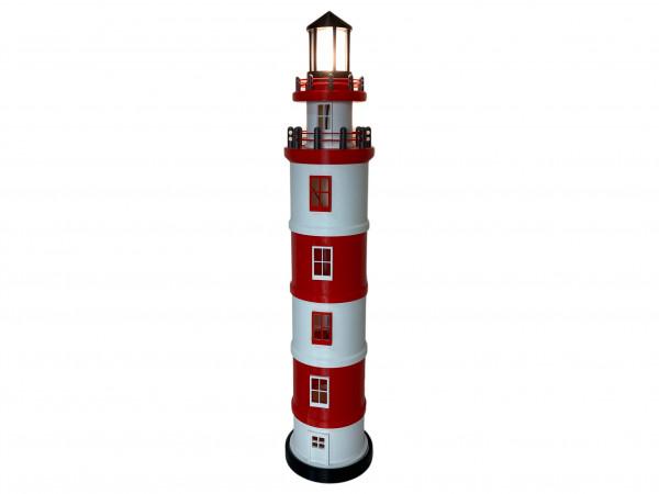Leuchtturm mit LED Licht extra Groß 80 cm mit 230V Lampe Energieklasse A+