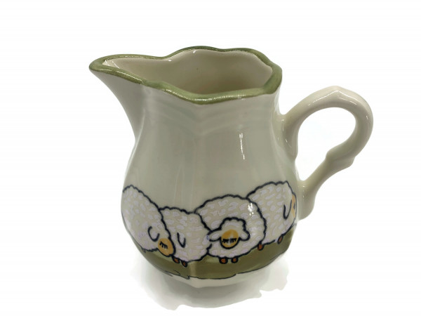 Zeller Keramik Schäfchen Rahmgießer Milchgießer Sahnekännchen