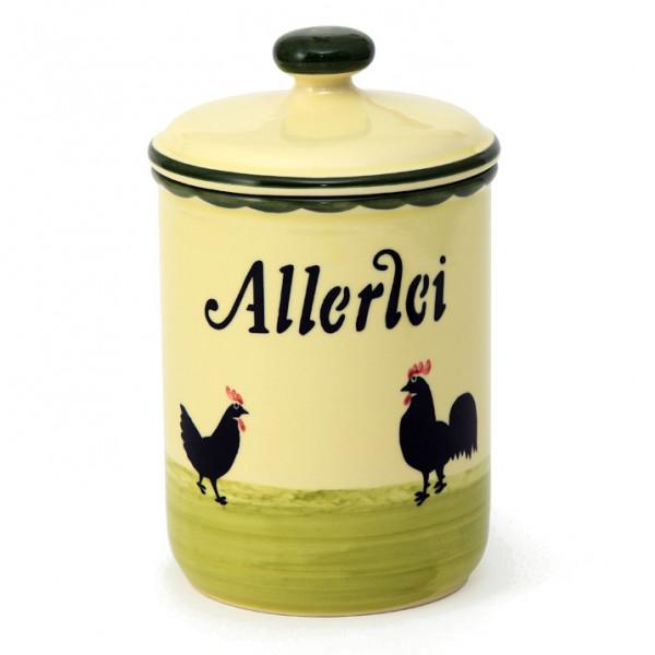 Zeller Keramik Hahn und Henne Vorratsdose Allerlei 1,00 l