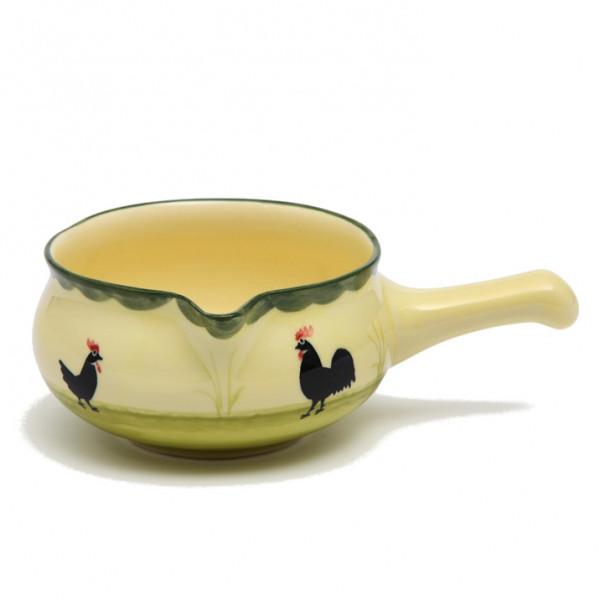 Zeller Keramik Hahn und Henne Sauciere 0,50 l