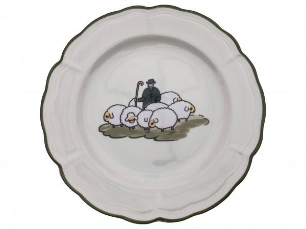Zeller Keramik Schäfchen Teller flach 26 cm