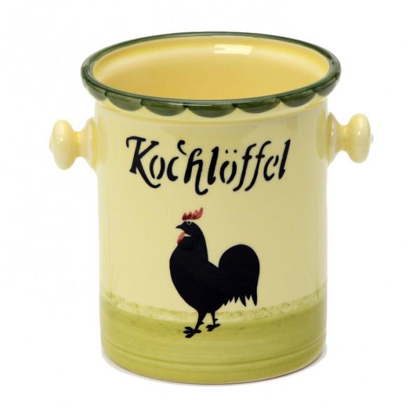 Zeller Keramik Hahn und Henne Kochlöffelbehälter 0,80 l