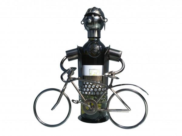 Weinflaschenhalter Metall Figuren Fahrrad Design Deko von eXODA