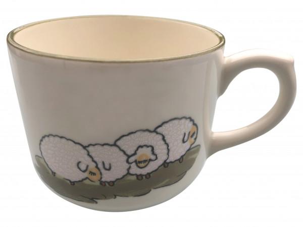Zeller Keramik Schäfchen Jumbo Obertasse 0,50 l