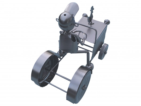Weinflaschenhalter Traktor Michi Metall Figuren Trecker Design Deko von eXODA