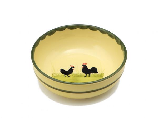 Zeller Keramik Hahn und Henne Schüssel rund 17 cm