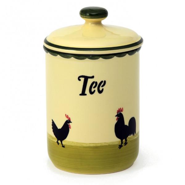 Zeller Keramik Hahn und Henne Vorratsdose Tee 1,00 l