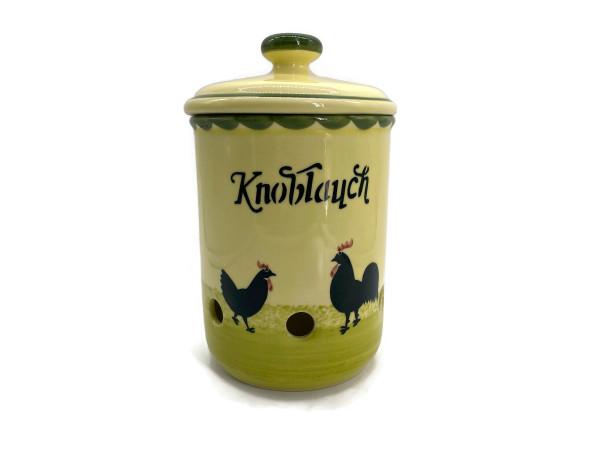 Zeller Keramik Hahn und Henne Knoblauchtopf 1,00 l