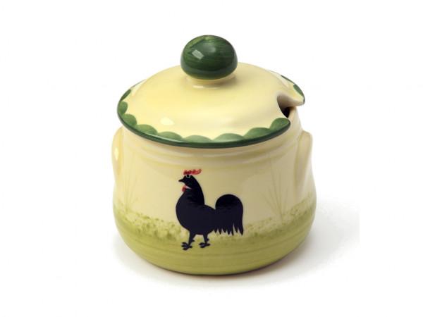 Zeller Keramik Hahn und Henne Geleedose 0,20 l