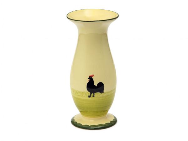 Zeller Keramik Hahn und Henne Vase 23 cm