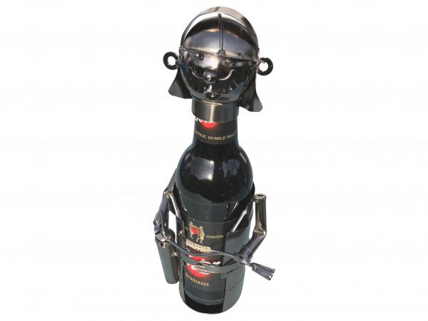 Bierflaschenhalter Feuerwehrmann Florian Metall Figuren Design Deko