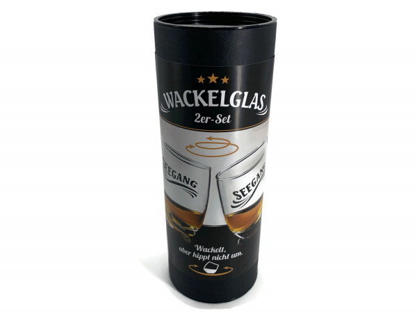 Wackelgäser Seegang Wackelglas im 2er Set Whisky Rum Tumbler