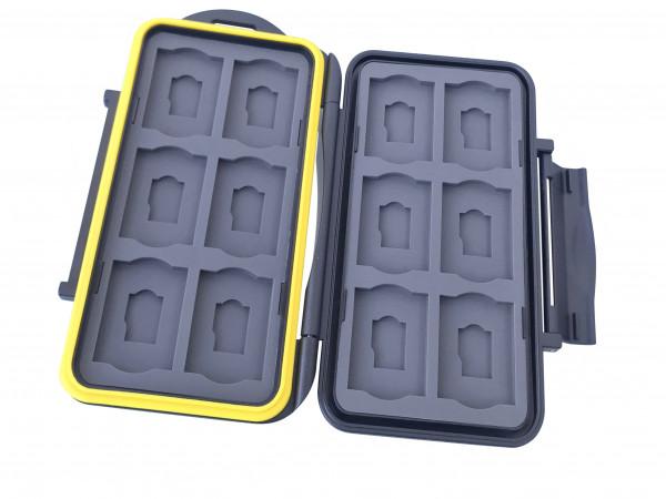 JJC Multi Memory Card Case MC-SDMSD24 Speicherkarten Schutzbox für 12 Stück SDHC