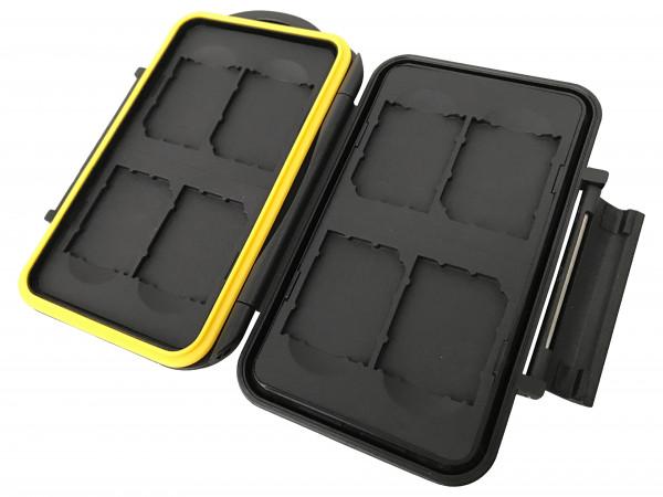 Speicherkarten Schutzbox für 8 SDHC / SDXC - Spritz-wasserdicht
