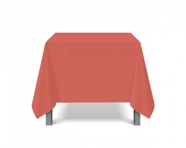 Tischdecke abwaschbar eckig Deko Vinyl rot zuschneidbar Schutzbezug 200x230cm wasserdicht von eXODA
