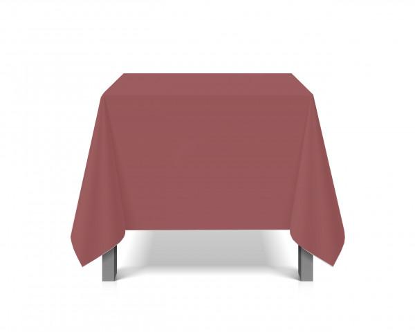 Tischdecke abwaschbar eckig Deko Vinyl dunkelrot zuschneidbar Schutzbezug 200x230cm wasserdicht von eXODA