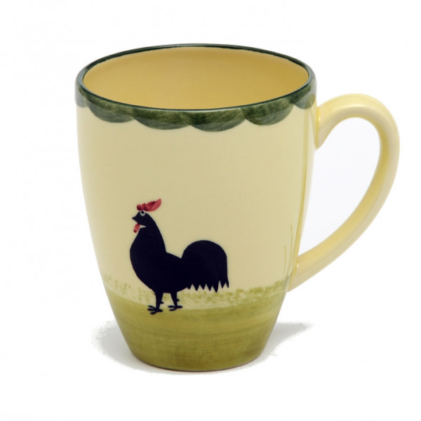 Zeller Keramik Hahn und Henne Milchkaffee Obertasse 0,35 l