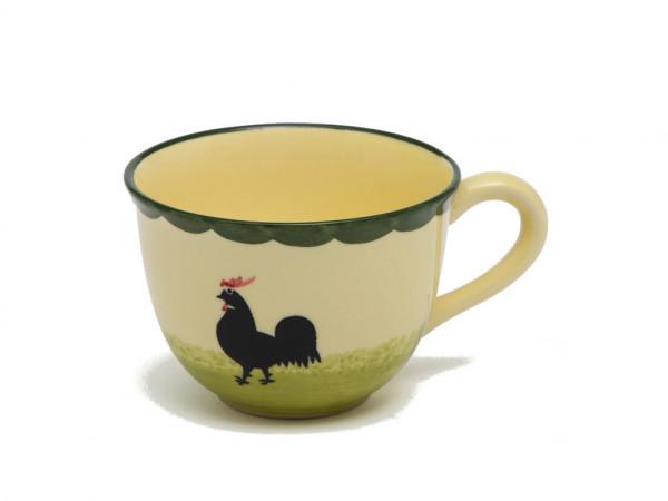 Zeller Keramik Hahn und Henne Cappuccino Obertasse 0,22 l