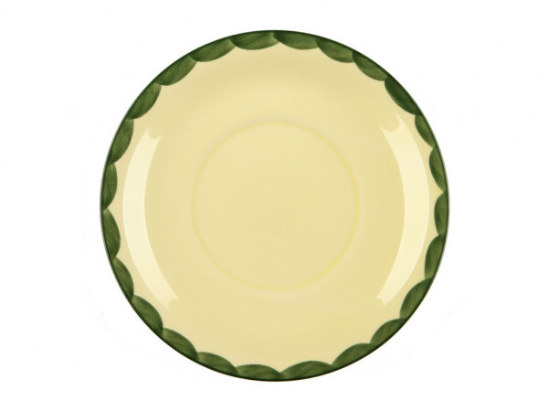 Zeller Keramik Hahn und Henne Suppenuntertasse 16 cm