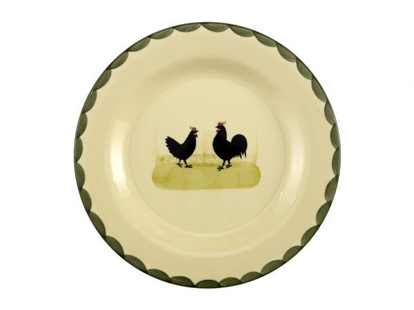 Zeller Keramik Hahn und Henne Platzteller 32 cm