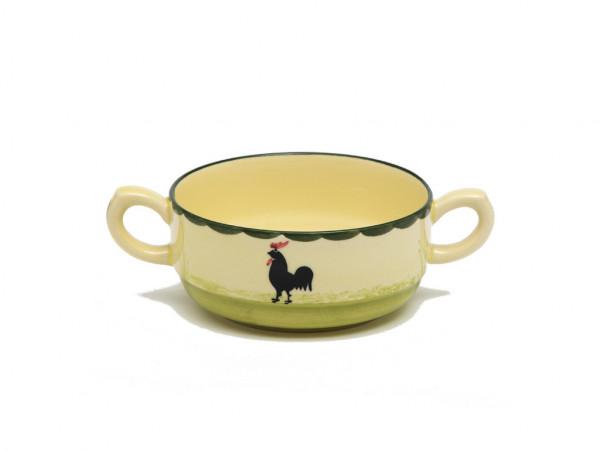 Zeller Keramik Hahn und Henne Suppenobertasse stapelbar 0,25 l