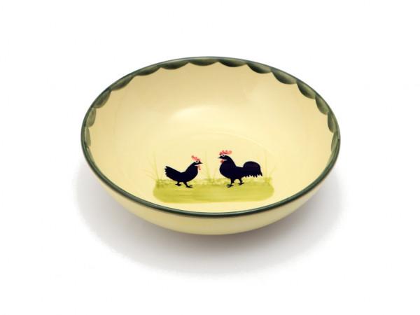 Zeller Keramik Hahn und Henne Müslischale 18 cm